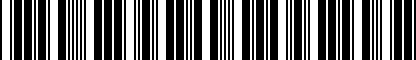 Barcode for 5G1064205