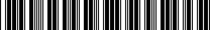 Barcode for 5GV071801