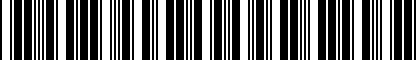 Barcode for NPN092005
