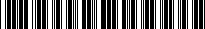 Barcode for 3C8075111