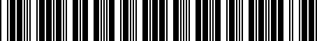 Barcode for 7L6945094T