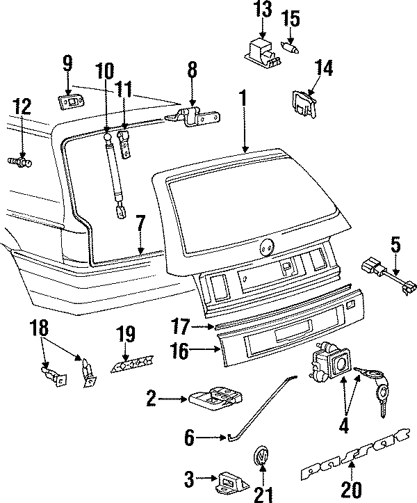 2k0827511 Volkswagen Liftgate Lock Striker Plate Lower