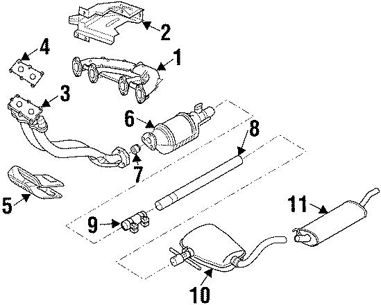 1HM253087G - Volkswagen Exhaust Crossover Pipe. (Front). 4 ...