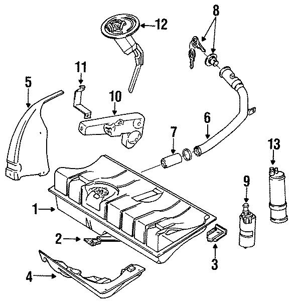 Volkswagen Cabriolet Fuel Tank Sending Unit  Components