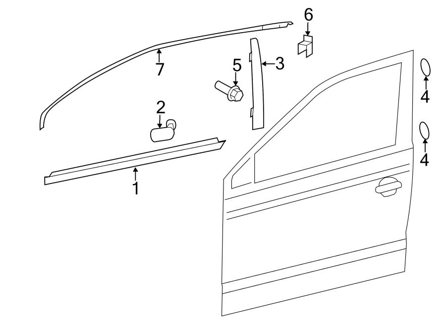 volkswagen jetta 2 5l 5 cylinder automatic applique  trim  corner  door  frame molding