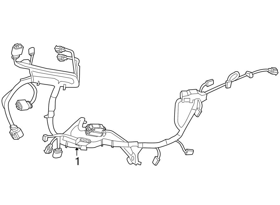 7B0971072A  Volkswagen Harness Engine    WIRING    Battery