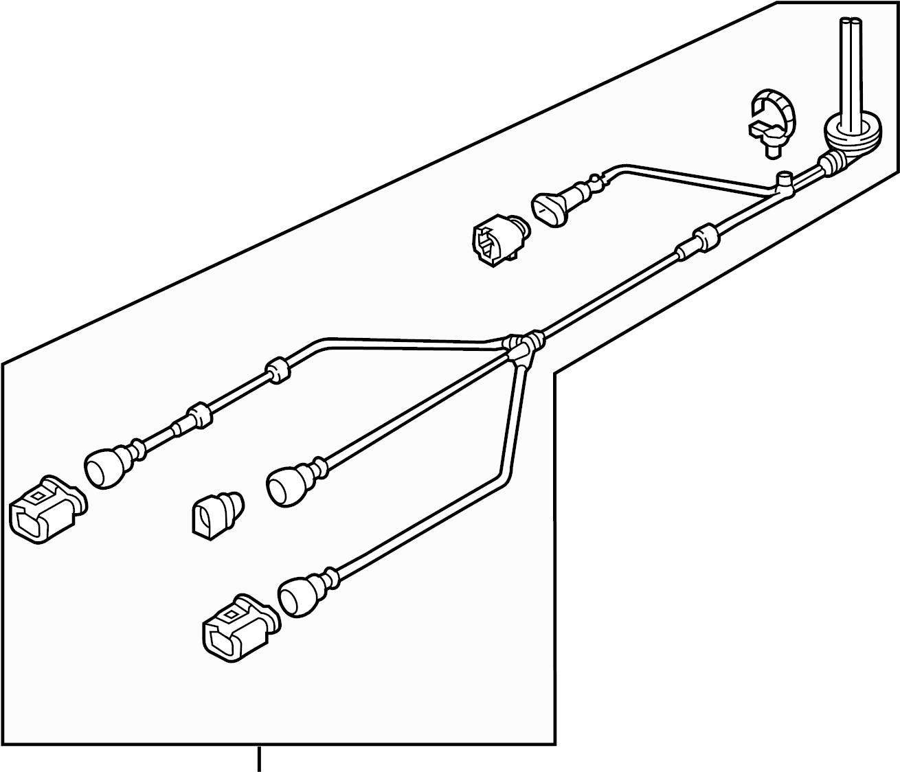 volkswagen tiguan abs sensor wire  harness  audi