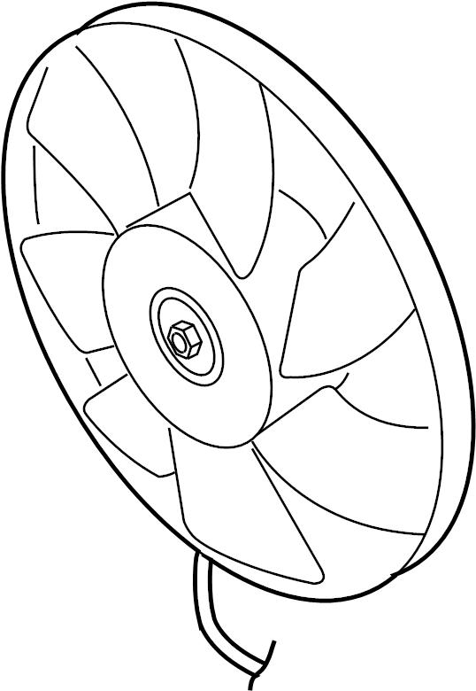 1c0959455f Volkswagen Electric F Fan Amp Motor Fan Assy