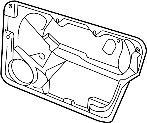 1ym890741 Volkswagen Mount Panel Mounting Convertible
