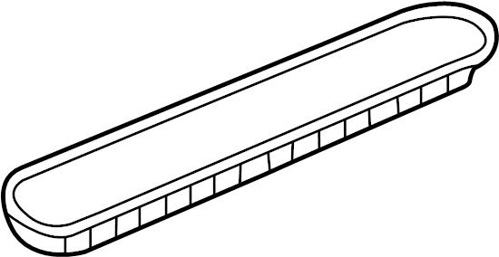 3b0868134 5pt volkswagen door panel insert front right for 15 lite door insert