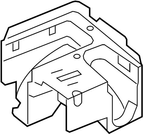 1k0907361c volkswagen fuse and relay center bracket 2008 vw eos lights