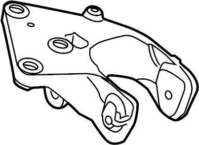7b0199354a volkswagen engine mount bracket rear liter. Black Bedroom Furniture Sets. Home Design Ideas